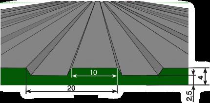схема крупный рубчик рифленое покрытие