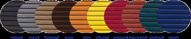 цветные рифленые покрытия крупный рубчик