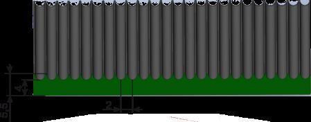 схема рифленых покрытий мелкий рубчик