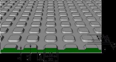 схема рифленого покрытия пятачковое